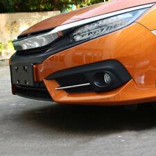 For Honda Civic 2016 – 2018 Chrome Front Fog Light Lamp Bumper Grille Trim Cover