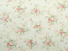 Cottage Shabby Chic Quilt Gate RURU Love Rose Love RU2300-15A Cream w/Script