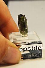 Cristal de Diopside de Jaipur Inde 20X9mm collection spécimen