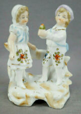 Late 19th Century Dresden Style Hand Painted Courting Couple Figurines