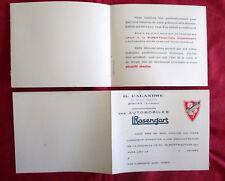 Auto. L.Rosengart  10 cv supertraction  dépliant carte invitation démonstration