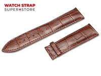 Brown Fits EMPORIO ARMANI Watch Strap Band Genuine Leather 18-24mm For Buckle