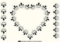 Heart STENCIL Love Floral Paint Wall Furniture Reusable Template Crafts Art HE8