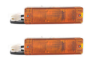 2x Front Turn Signals Amber RIGHT=LEFT Fits AUDI 50 86 VW Jetta II Polo 74-94