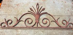 Pediment Of Gate Antique 18th Wrought Iron Arr Popular Castle Iron