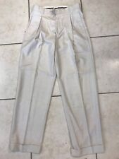 NEW STACY ADAMS Linen/Cotton Cream Pleated Front Pants Size 30x32