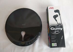 ONN Personal CD Player Battery Powered with JVC Gumy plus stereo headphones