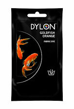 50g Goldfish Orange Fabric Hand Dye - DYLON Sachet 55 Clothing Dyeing Colouring