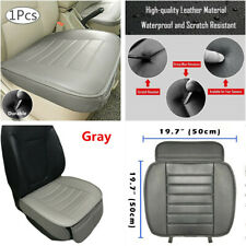 Breathable Leather Car Seat Cover Protector Cushion Gray Front Cover Universal