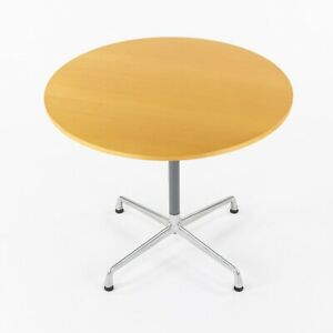 Herman Miller Eames Aluminum Group Contract Base Round 36 Inch Cafe Table Maple