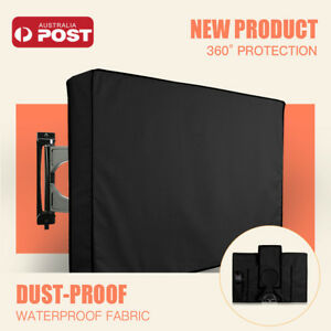 """30""""-65"""" Inch Waterproof TV Cover Outdoor Patio Flat Television Protector Black"""