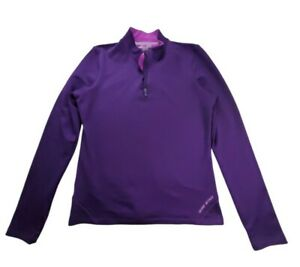Under Armour Womens XL Fitted ColdGear 1/4 Zip Purple Pullover Shirt