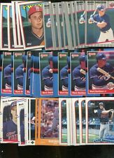 MARK DAVIDSON BULK LOT OF 50 BASEBALL CARDS MINNESOTA TWINS KNOXVILLE TENNESSEE
