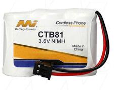 MI CTB81 3.6V NiMH Cordless Phone Battery KX-A36A,P-P301/PT,BP-T16,TRB-6500