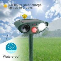 Outdoor Solar Ultrasonic Pest Animal Repeller Garden Cat Dog Bird PIR Repellent