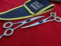 "Pet 6"" Upward & Downward Curved dog/cat grooming Scissors/(6.5""with Finger Rest)"