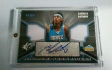 Upper Deck Carmelo Anthony Rookie Autographed Winnng Materials