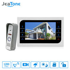 JeaTone 7'' Wired LCD Video Door Phone Camera Intercom Door Bell With Touch Key