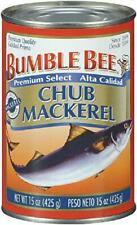BUMBLE BEE Chub Mackerel, 15 Ounce Can (Pack of 12), Canned Mackerel, High Prote