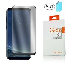 [3x] CASE FRIENDLY 3D Full Curved Glass Screen Protector For Samsung Galaxy S8