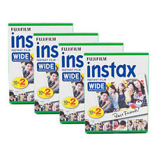 4 Packs 80 Instant Photos Fuji FujiFilm Instax Wide Film Polaroid Camera 200 210