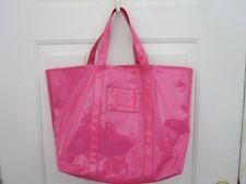 VICTORIA'S SECRET Beauty Candy Large Tote Bag Purse Pink Plastic Jelly EUC