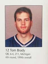 2000 New England Patriots YEARBOOK TOM BRADY ROOKIE 1ST RC DEBUT SCARCE ONLY 1!!