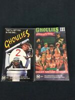 Ghoulies 2 & 3 VHS Tapes Classic Cult Horror Comedies ExRental Rated M15+ Nice!