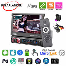 7''1 Din GPS Car Radio BT FM iOS Mirror Link Touch Screen Stereo NAVI+Camera+SWC