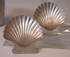 Pair TIFFANY & CO. STERLING SILVER CLAM SHELL FOOTED TRINKET Ring DISH Beach