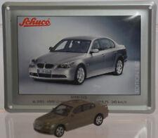 Schuco Modell 1:87 BMW 525i graubraun Schild Emaille