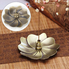 Alloy Incense Burner Sandalwood Sticks Holder Tray Plate Lotus For Sticks Cones
