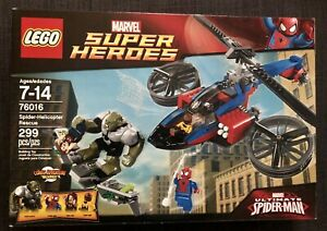 LEGO 76016 SPIDER-HELICOPTER RESCUE MARVEL SUPER HEROES *NEW *RETIRED *FREE SHIP