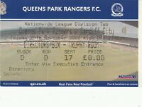 Ticket - Queens Park Rangers v Cardiff City 29.11.02