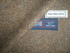 100% PURE NEW WOOL DONEGAL TWEED FABRIC – MADE IN HUDDERSFIELD ENGLAND - 1.91 m.