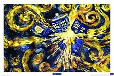 DOCTOR WHO EXPLODING TARDIS POSTER GIANT (100x140cm) NEW LICENSED ART