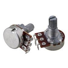 10P A100K Guitar Short Shaft 15mm Linear Pot Guitar Tone Potentiometer Chrome