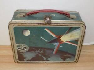 Vintage Tin Metal Space Lunchbox