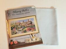 Marty Bell's MISS HATHAWAY'S GARDEN Counted Cross Stitch Pattern and Fabric