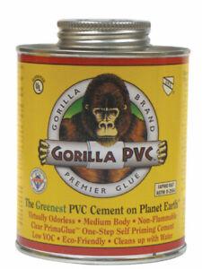 Gorilla PVC  PrimaGlue  Clear  Primer and Cement  For PVC 16 oz.