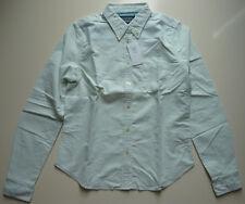 Ralph Lauren Polo Jeans Company Bluse Gr. L Baumwolle Oxford grün weiss Streifen