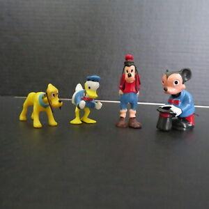 4 VINTAGE MARX TOYS, MICKEY, PLUTO, GOOFY, DONALD DUCK BOBBLE HEAD NODDERS