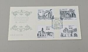 Stamp Pickers Mexico 1983 FDC Cover Colonial Monuments Set Sc #1338-1341 VF