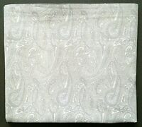 Ralph Lauren QUEEN FLAT Bedsheet Delicate Paisley Gray Tones Cotton Bedding
