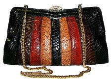 97145106d3 SNAKESKIN Reptile Colorful Leather purse handbag clutch shoulder bag