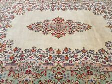 ROYAL ANTIQUE PERSIAN KERMAN HAND-KNOTTED CR1920 FINE MASTERPIECE RUG 10'X13'