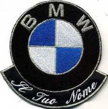 Stupenda toppa ricamata patch termoadesiva BMW personalizzata cm. 9 x 9