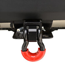 "2"" Receiver Hitch With 3/4"" D-ring Shackle & Red D-ring Isolator and Hitch Pin"