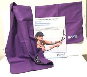 2X GoCool Mission Instant Chill Cooling Towels~Jumbo 38x16~Large 34 x 14~Purple
