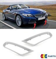 NEW BMW GENUINE Z4 E89 FRONT BUMPER FOG LIGHT COVER GRILLS PAIR SET N/S + O/S